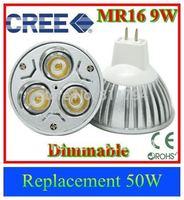 10pcs/lot energy saving light bulbs led mr16 dimmable 6w/9w led light cree led spot downlight Spot Lamp DC12V