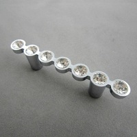 New Products Clear Crystal Modern European Drawer Cabinet Door Handles (C.C.:64mm,Length:110mm)