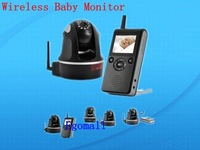 Deluxe Wireless Baby Monitor (PTZ, Night Vision, H.264, 300 Meter Range) Free-shipping