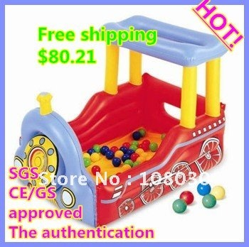DHL  Quick get door to door service Free shipping  Family amusement park cartoon train modelling  Inflatable pool