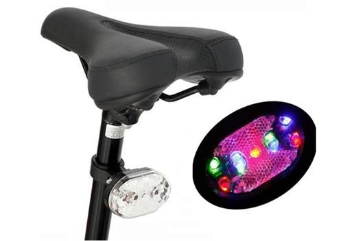 New Bike light Biclycle Lamp Bike Taillight Bicycle back Light 9 LED 3 Colors(China (Mainland))