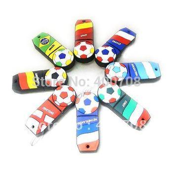 football national teams real 2gb 4gb 8gb 16gb 32gb usb flash drive thumb drive pen drive usb stick pen key Udisk  10pcs/lot