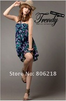 1319# 2012 free shipping/wholesale/ mini dress/Chiffon dersses/Women Fashion Sleeveless /fashion dress,women clothes