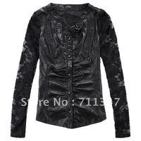 women's 2012 100% genuine sheetskin leather jacket