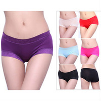 Recommend ! Waistline winthin:88cm 10pcs/lot Bamboo modal panties Women boxer panties lace sexy seamless panties,Wholesale