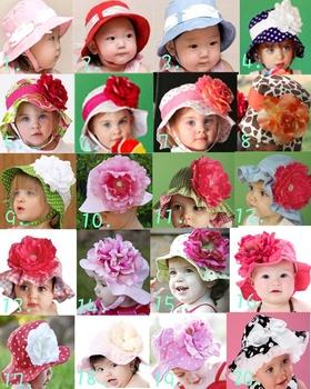 Retail-Modeling baby flower hat/infant&toddler's beanie/Children's sun hat/girl's sun hat/Kids cap