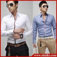 Free Shipping 2014 New Men's Shirts Mens Casual Slim Fit Stylish Hot Dress Shirts ,long sleeve ,4 colors,M-XXL ,wholesale