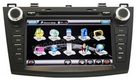 2010 2011 Mazda 3 DVD Player GPS Navigation system + 7 Inch Digital Touchscreen + iPod Ready + Steering Wheel control Bluetooth