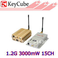 NEW 1.2GHz 3000mW 3W 15 Channel Digital Wireless AV Sender Transmitter and Receiver  Audio Video Sender for CCTV Surveillance