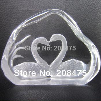 Shinning Crystal Swan home decoration,crystal wedding gifts ,crystal swan wedding souvenir Free shipping DHL,FEDEX