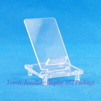 Free Shipping 6 Clear View Mob Cell Phone Display Stand Holder 120330WS-08