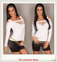 FREE SHIPPING 2014 New High Quality Fashion T-shirts Sexy Club Wear Top Free Size NA25057