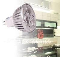 Ultra bright 3w MR16 led spotlight,50pcs/lot,DC/AC12v,Bridgelux chip,high quality,factory direct sale,3years warranty