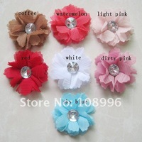 Free Shipping-13Colors For Your Choose 2'' New Satin Flowers /dress flowers /headband flower 50pcs/lot