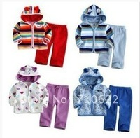 lovely animal baby&#39;s suits,  2 pieces,clothes +pants, children&#39;s sets