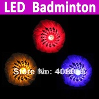 Free shipping LED Luminous color badminton LED Shuttlecock Can be lit 20 hours, badminton emphasis  High quality