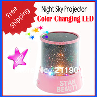 Free Shipping RGB Color Changing LED Starry Night Sky Projector
