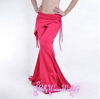 4Pcs/Lot Belly Dancing High Quality Trousers Attached Belt,Tribal Belly Dance Pants,14Colors Available,Free Size