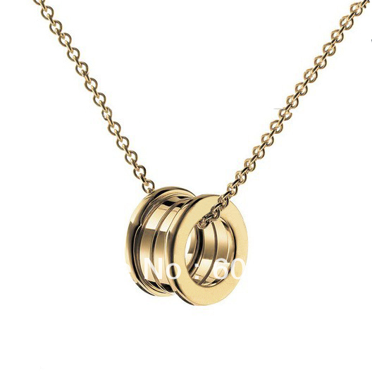 2013 Finest Designer Spirals Necklace in 18K Yellow Gold,Featuring The Iconic Double Initial Logo Pendant Necklaces For Womens(China (Mainland))