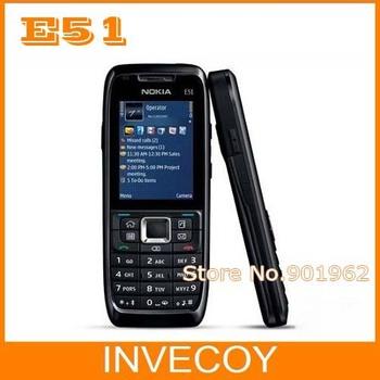 E51 Original Unlocked Nokia E51 bar cell phone freeshipping