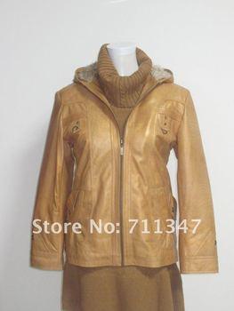 women's 2012 100% genuine sheetskin leather jacket  ex-1106