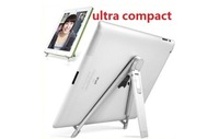 100pcs/lot Universal Portable Foldable Ultra Compact Aluminum Metal Desktop Holder Stand for iPad Tablet PC