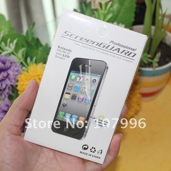 Free shipping Full Body Screen Protector For iPhone 4 4G 4S Front+Back+Cloth+Retail Package Screen Flim Guards