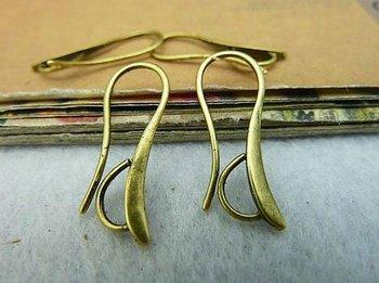 10pcs Copper Earring Hoop Plated Antique Bronze  Earring Findings Hook 14*28mm Earring Components