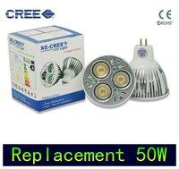 4 Pcs/lot replace 50w Dimmable GU5.3 CREE MR16 6W 9W 3x3W Warm Cool white LED Light Bulb Spotlight Downlight 12V 110V 220V