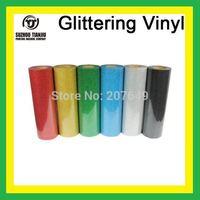 TJ High-Quality Glittering heat transfer vinyl,heat transfer glittering vinyl,t-shirts vinyl(width=0.5meter) 1 meter