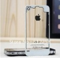 White Glass Clear Back Rear Battery Cover Case for iPhone 4 Free Shipping With gift