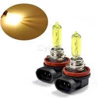 Wholesale 5Pcs/Lot 2 X H9 Amber / Yellow 65W Car Fog Lamp Xenon Gas Halogen 12V Lamp Light Bulbs 3000~3500K free shippping