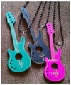 30pcs/lot Wood Necklaces Guitar Pendant, New Nice Gifts, Whole Hot Sale Free Shipping (NBNLWG)