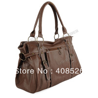 2013 Hot Sell New Fashion Korean Style Women Lady PU Leather Tote Shoulder Bags Handbag free shipping 4001