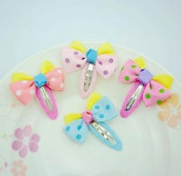 Free Shipping, Kids Headwear/Cute Cartoon Hair Grips/Cloth BowKnot Headwear/Children's Hair Grips/Girls' Hair Ornament