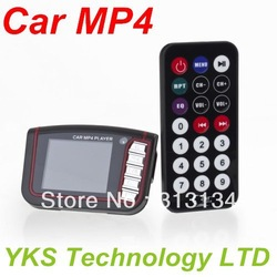 "New LCD Car MP3 MP4 1.8"" Player FM Transmitter SD/MMC free shipping(China (Mainland))"
