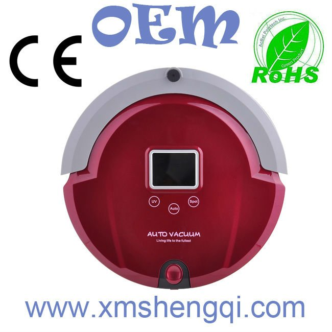 Ash Vacuum Robot Cleaner, LCD Screen,Touch Button,Cleaning Schedule,Virtual Wall(China (Mainland))