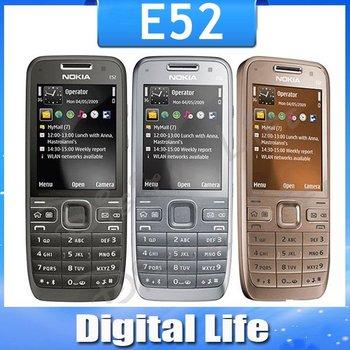 E52 Original Nokia E52 WIFI GPS JAVA 3G Russian Keyaboard Unlocked Mobile Phone