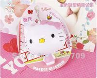 10 pcs Fashion Hello Kitty 100cm Plastic Measure Ruler Tape, Cartoon Novelty Key Chain wholesale.
