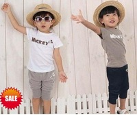 baby suits tee shirts+short pants baby sets of clothing 2012 boy girls kids clothes spring  summer cotton PQ FREE SHIPPING