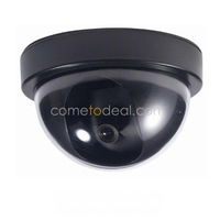 Free Shipping Dropship Cheap High Quality Plastic Realistic Looking Fake Dummy Decoy Security Camera with Blinking LED