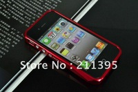 Aku cinta New Arrived!!!2012 Newest 5pcs/Lot Polar Light Aluminum Bumper case for iphone 4/4S FAST DELIVERY