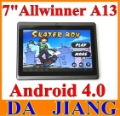 Support HDMI 7''  tablet pc Allwinner  A13 Q88 Q89 Capacitive Android 4.0 4GB 512MB  camera wifi  Ainol Mars aurora via8650