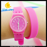 100pcs/lot Fashion long strap silicone jelly leisure bracelet watch,free shipping(SW-043)