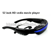 Mobile Theatre cinema Video Glasses Movies on 52 Inch Virtual Screen 2012 Newest ATG52 free dhl