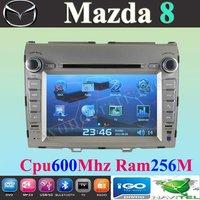 "8"" Car DVD player  for Mazda 8  / mazda8 with GPS navigation  Bluetooth IPOD control Radio Free Shipping"