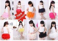 HOT one piece retail children Tutu dress  girl summer kids dress for summer 10 colors 4 sizes high quality