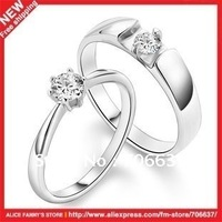 Couple rings.Clean silver jewellery.Is 925 silver.Simulated diamond.Free lettering.Fashion.Lovers'.Free shipping.1 piece.New