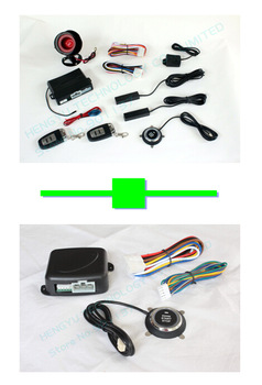 1 pcs push button engine start stop/PKE car alarm FS-58 keyless go + 1 pcs engine push start button FS-50 keyless go