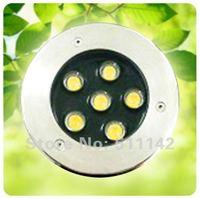 Professional led underground light 6W, 45MIU Epistar chip garden decoration lamp, outdoor lighting, two years warranty